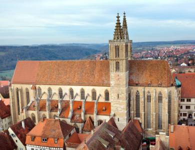 De saint James kerk in Rothenburg ob der Tauber