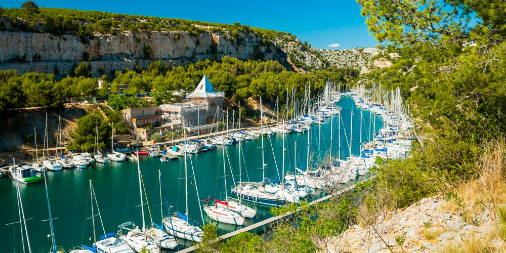 Calanque Port in Provence